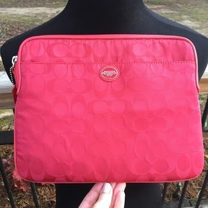 Authentic Coach iPad Travel Case, Red